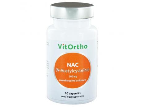 Vitortho NAC N-acetyl cysteine 500 mg 60cap