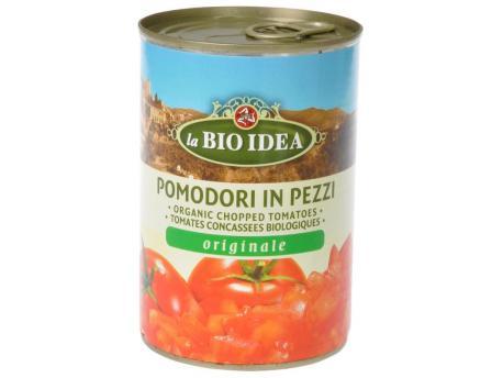 Bioidea Tomatenstukjes in blik 400g