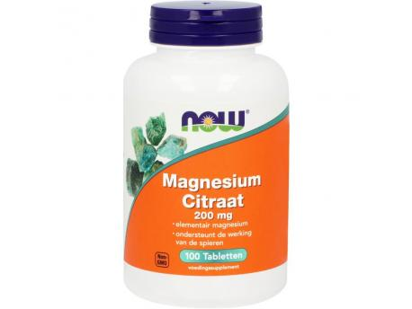 NOW Magnesium Citraat 200mg 100tab