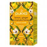 Pukka Org. Teas Lemon ginger Manuka Honey 20st