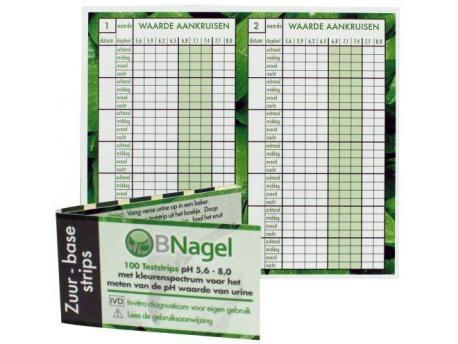 Nagel Zuurbase strips voor het testen van pH-waarde 100st
