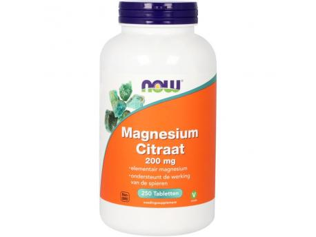 NOW Magnesium Citrate 250tab