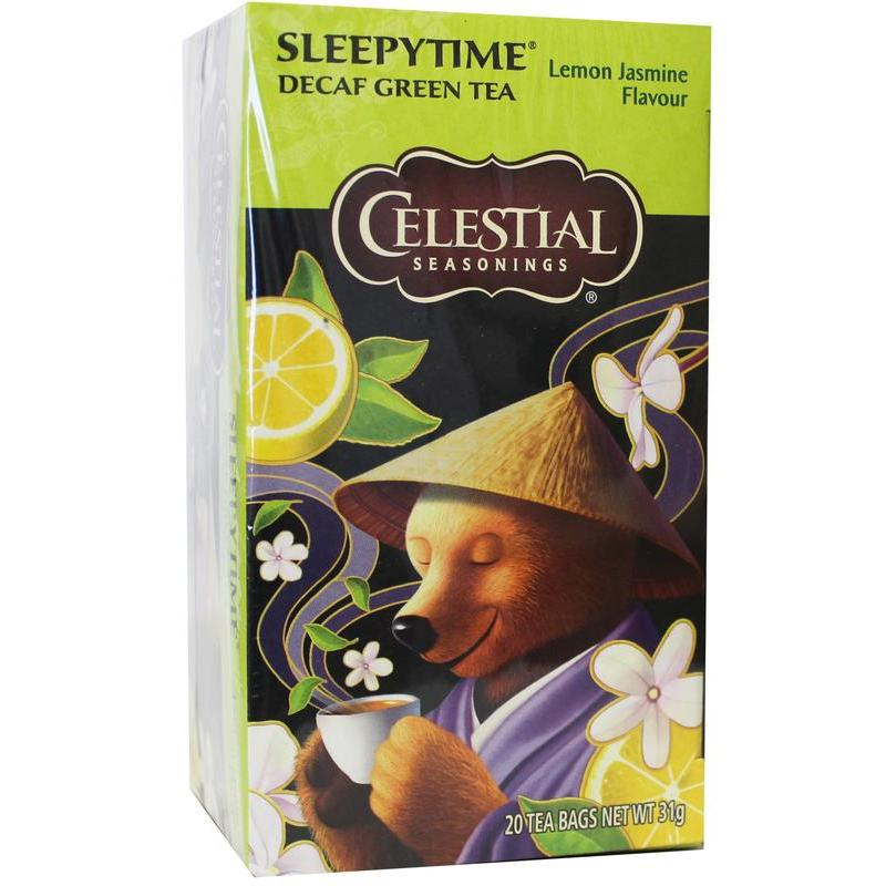 Afbeelding van Celestial Season Decaf sleepytime green tea lemon jasmine 20st