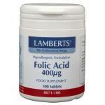 Lamberts Folic Acid 400 mcg 100tab