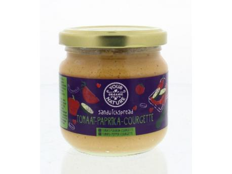 Your Organic Nature Sandwichspread tomaat paprika courgette 180g