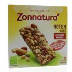 Zonnatura Muesli with nuts bar 3x25g