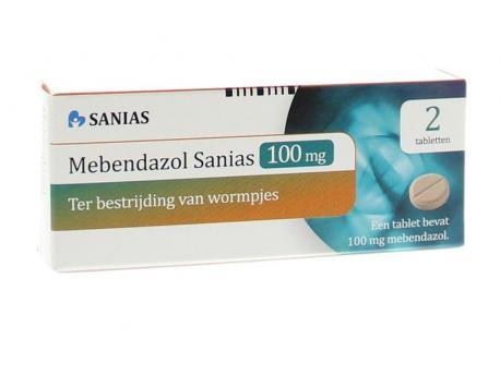 Sanias Mebendazol anti-wormtabletten 100 mg 2st