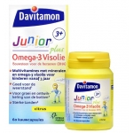 Davitamon Junior 3+ omega 3 visolie 60cap