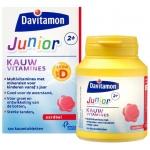 Davitamon Junior 2+ kauwtabletten aardbei 120kt