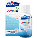 Davitamon Junior 1+ vloeibare vitamines framboos 100ml