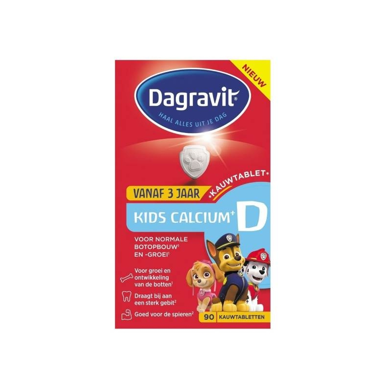 Afbeelding van Dagravit Kids 3+ calcium en D 90ktab