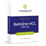 Vitakruid Betaine HCL Testkit 10tab