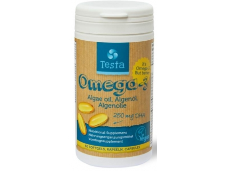 Testa Omega-3 Algenolie DHA 250mg 60 softgels