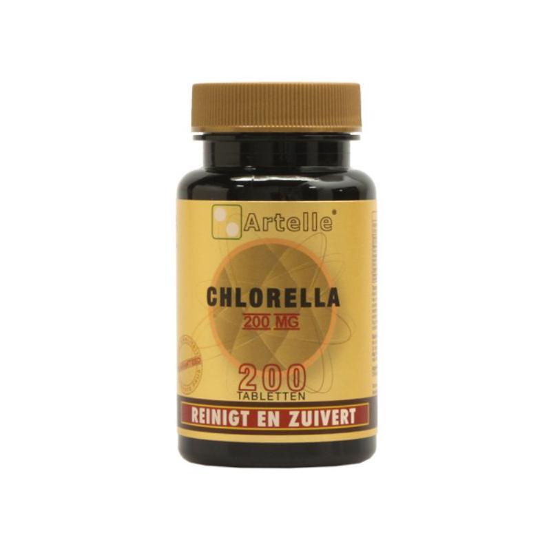 Afbeelding van Artelle Chlorella 200mg 200tab