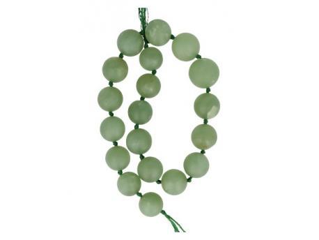 Kralen streng jade bol geknoopt lichtgroen