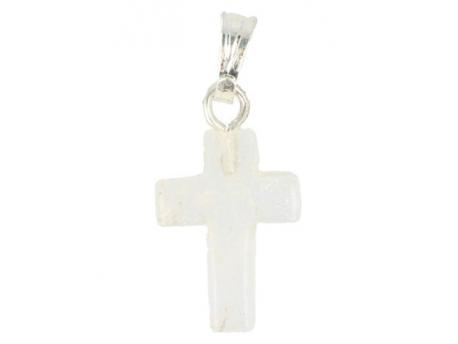 Kruis hanger 14 mm bergkristal