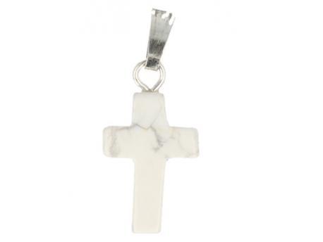 Kruis hanger 14 mm howliet wit