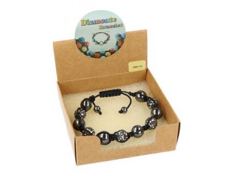 Shamballa armband hematiet