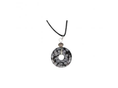 Donuthanger & koord 30 mm obsidiaan