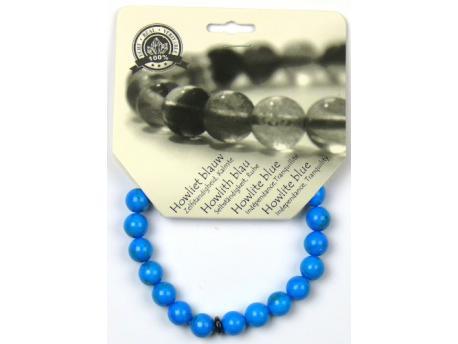 Armband 8 mm howliet blauw