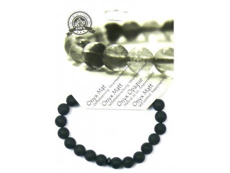 Armband 8 mm obsidiaan/ onyx mat