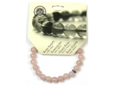 Armband 8 mm roze kwarts