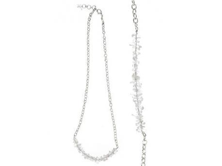 Bar ketting bergkristal
