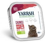 Biologisch kattenvoer chunks met kip en rund