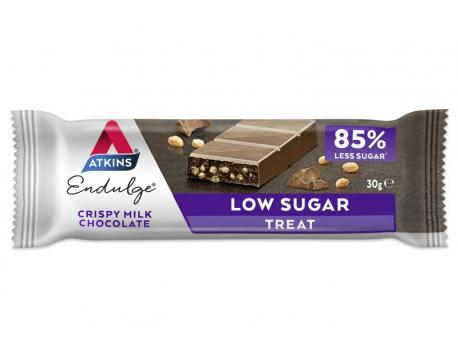 Atkins Endulge reep krokant melk chocolade 30g