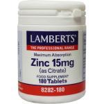 Lamberts Zink Citraat 15 mg 180tab