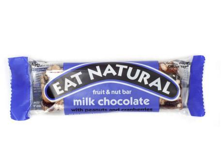 Eat Natural Peanut cranberry cashew macadamia chocolate 45g