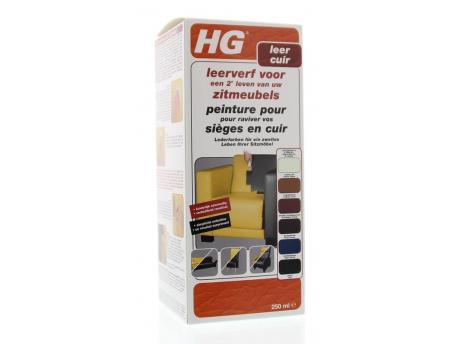 HG Leerverf zitmeubel zwart 250ml