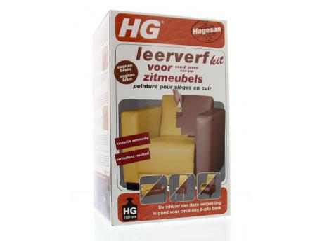 HG Leather paint kit furniture Cognac Brown 700ml