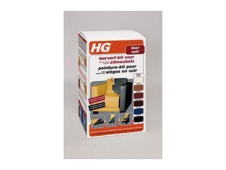 HG Leerverfkit zitmeubel zwart 700ml
