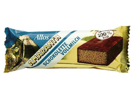 Allos Chocolette melk amarant 25g