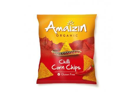 Amaizin Corn chips chili bio 75g