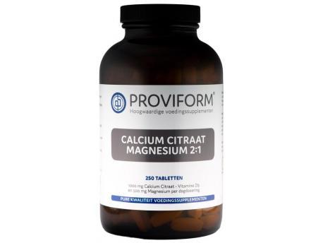 Proviform Calcium magnesium citraat 2:1 250 tabletten