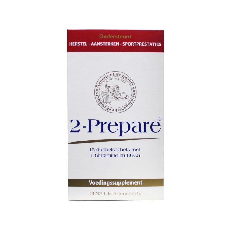 Afbeelding van 2 prepare L Glutamine 9g 150 Mg, 15 Sachets