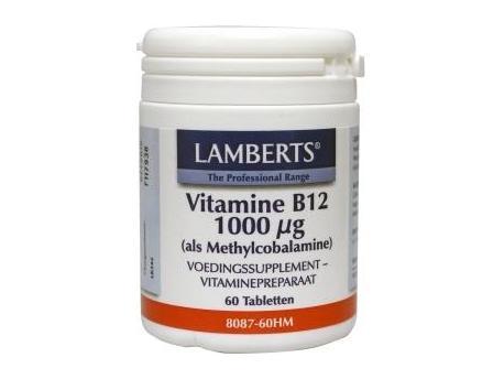 Lamberts Vitamine B12 methylcobalamine 1000ug 60tab