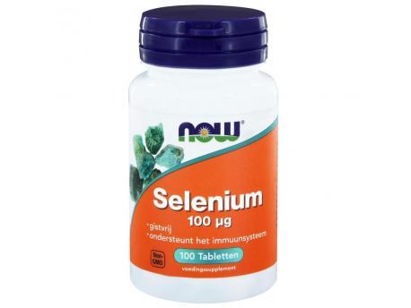 NOW Selenium 100 mcg gistvrij 100tab