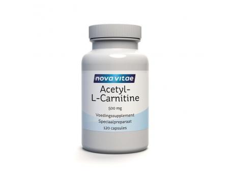 Nova Vitae Acetyl L carnitine 500 mg 120cap