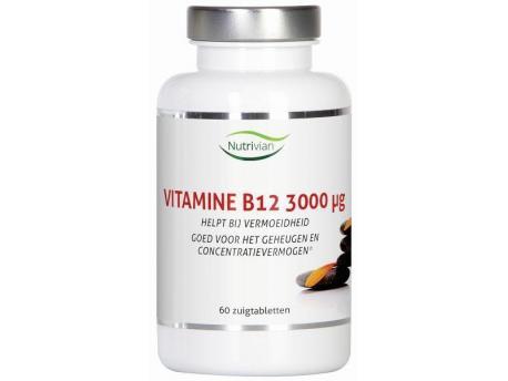 Nutrivian Vitamin B12 Methylcobalamin 3000mcg b 60zt