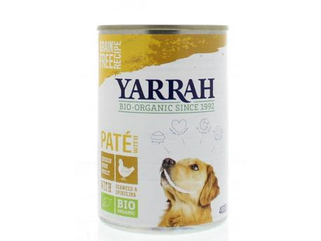 Yarrah 400 gr dog blik pate met kip