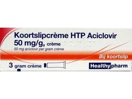 Healthypharm cold sore cream aciclovir 3g