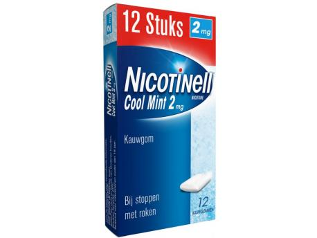 Nicotinell Kauwgom Pocket Pack 2mg 12stuks