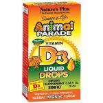 Natures Plus Animal parade vitamine D-3 druppels 10ml
