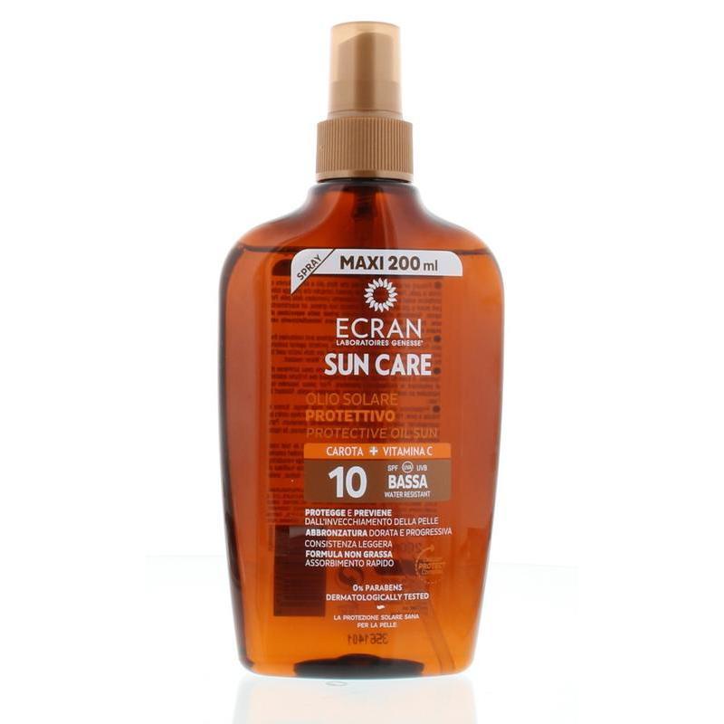 Ecran sun oil carrot spf10 spray 200ml for Ecran photo sun