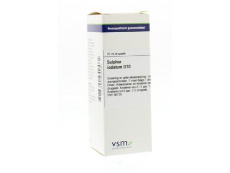 Vsm Sulfur Iodatum D10 20ml Vsm kopen