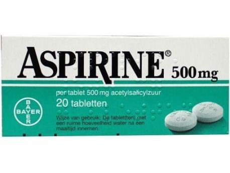 Aspirine Aspirin Aspirin 500mg 20tab