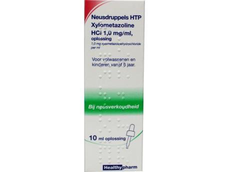 Healthypharm Neusdruppels xylometazoline 10ml